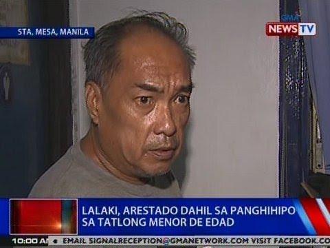 NTVL: Lalaki sa Maynila, arestado dahil sa panghihipo sa 3 menor de edad
