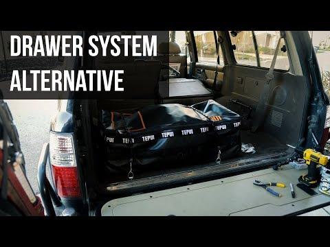 Drawer System Alternative (aka a strapped down bag)