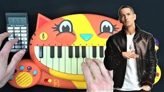EMINEM - THE REAL SLIM SHADY ON A CAT PIANO AND A DRUM CALCULATOR