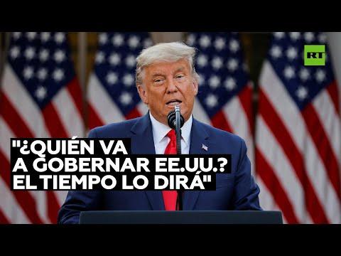 Trump reaparece en público tras su derrota electoral
