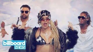 Karol G & Shaggy's Video for 'Tu Pum Pum' Is Bursting With Color | Billboard News