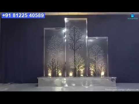 Glass Water Fountain Falls Design Decor India