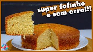 BOLO DE IOGURTE NATURAL SUPER FÁCIL E FOFINHO
