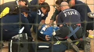 UCLA softball player taken off field by paramedics
