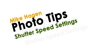 Nikon Camera Shutter Speed Settings