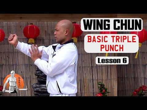 Basic Wing Chun Lesson  basic Triple Punch lesson 6 | Master Wong