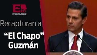 """""""Labor en conjunto de Fuerzas permitió recaptura de """"El Chapo"""": Peña Nieto / 08 de enero 2016"""