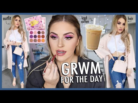 Chit Chat GRWM for the day! ? Coffee, Skincare, Makeup, Hair & Outfit!