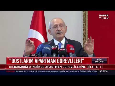 CHP Lideri Kemal Kılıçdaroğlu İzmir'de apartman görevlilerine hitap etti: