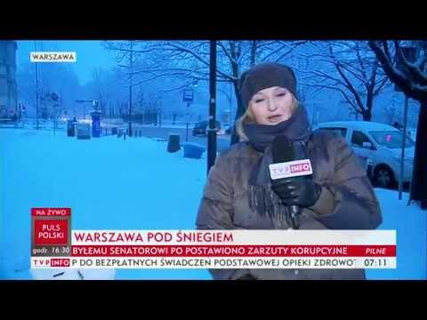 Ekipa TVP Info lepi pierwszego bałwanka w sezonie