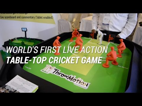 World's First Live Action Table-Top Cricket Game   Digit.in