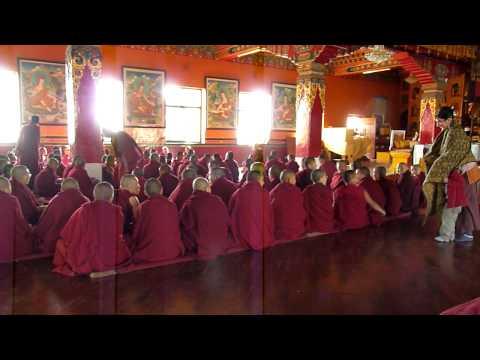 Chants in Kopan Monastery