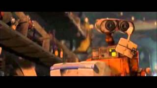 Wall-E spork rubiks cube scene