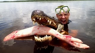 Epic Alligator Attack Prank