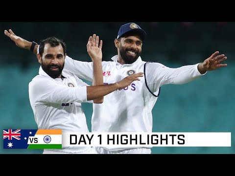 Wickets aplenty but India tickled pink after day one | India's Tour of Australia 2020