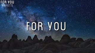 Mariette - For You [LYRICS](Melodifestivalen 2018)
