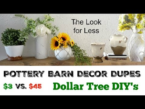 Pottery Barn Dupes | Dollar Tree DIY's | Momma From Scratch