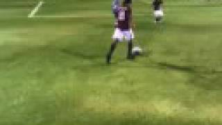 Fifa 09 Demo - Ronaldinho skills & goals (part 1)