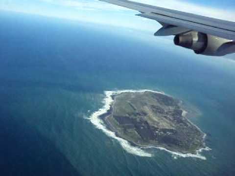 Flying over Robben Island