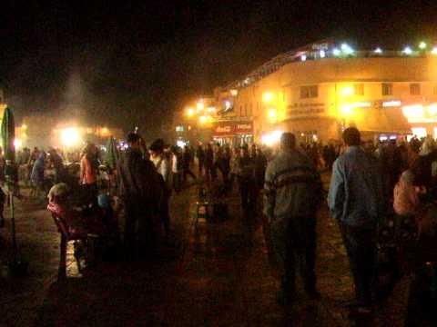 夜のフナ広場1/2@マラケシュ(モロッコ)Morocco