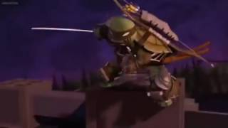 Leo Kills Shredder - TMNT 2012