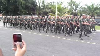 Entrega boina batalhão marchando 12ª Batalhao de suprimento