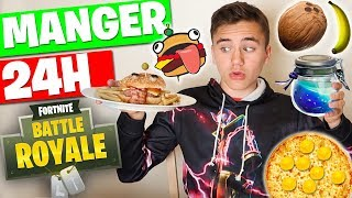 JE MANGE QUE DE LA NOURRITURE FORTNITE PENDANT 24H ! -  Néo The One
