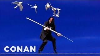 Conan's Tightrope Walker One-Ups Niagara Falls Stunt - CONAN on TBS