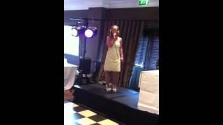 Sarah sings at the Christening