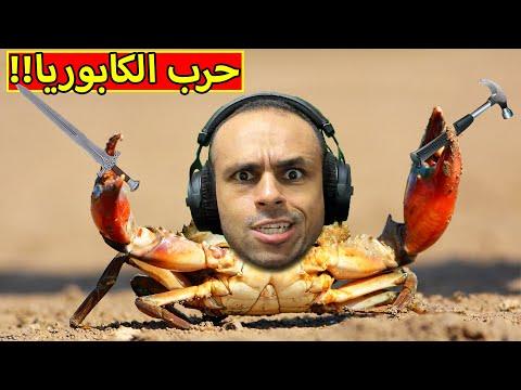 حرب الكابوريا | Fight Crab !! 🦀😲