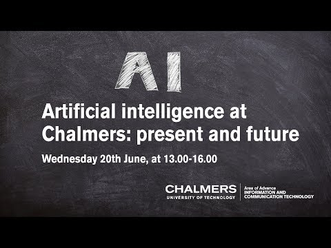 Artificial intelligence at Chalmers: present and future