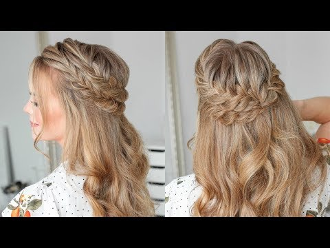 Half Up Double Fishtail French Braids | Missy Sue