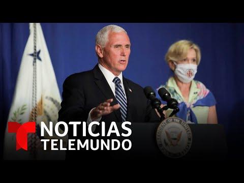 Rueda de prensa de la Casa Blanca sobre el coronavirus en medio del repunte de contagios