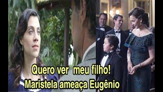 Maristela aparece de surpresa na casa da família Castelo e ameaça Eugênio #espelhoda