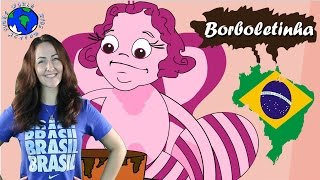 Borboletinha Tá na Cozinha | Little Butterfly Song in Portugeese | World Kids Action Song