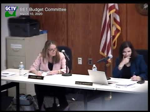 BET Budget Committee, March 10, 2020