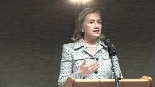 Secretary Hillary Clinton Highlights American Corner Debrecen