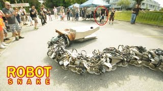 Robotic Snake in Public -- Amazing Robots That Really Exist