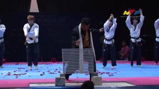Exhibición de taekwondo durante el mundial de cadetes Azerbaiyán