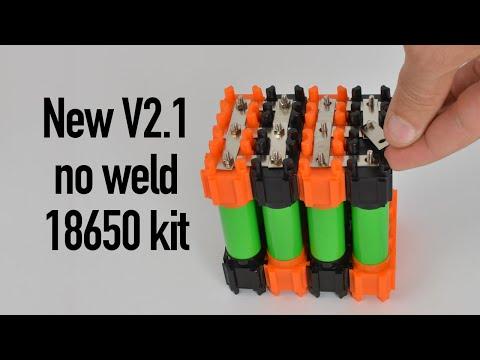 New & improved Vruzend V2.1 no-weld 18650 kit