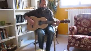 """Borders of salt"" (Dan Ar Braz), cover with homemade ""bouzouguit"", harmonica & Foot drum"