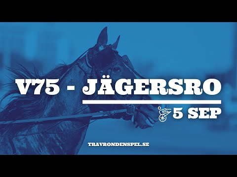 V75 tips Jägersro jackpot - 5 september 2020