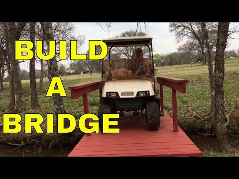 HOW TO BUILD A BRIDGE OVER A CREEK
