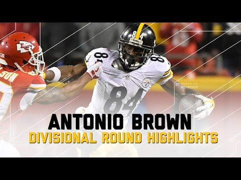 Antonio Brown Goes for 108 Yards in Steelers Win | NFL Divisional Player Highlights