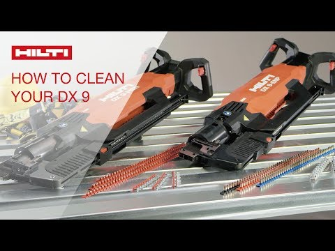 HOW TO clean and mantain your Hilti DX 9 stand-up decking tools