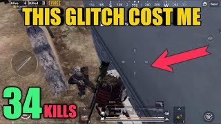 This Glitch Cost Me 34 Kills | Crown Solo Vs Squad | PUBG Mobile