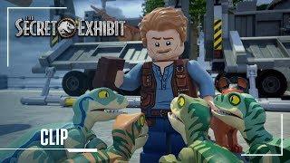 LEGO Jurassic World: Secret Exhibit | Clip: Owen Owen Meets Blue For the First Time | Jurassic World width=