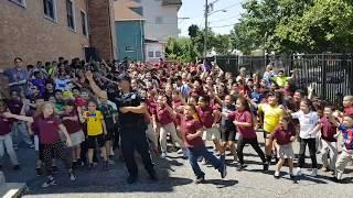 Police Officer Wiggle Dance Fulton Annex School Beberly and Bradley
