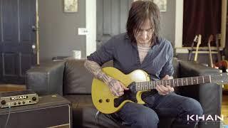 Richard Fortus of Guns n Roses demoing Khan Audio Pak Amp w/ Gibson LesPaul Jr