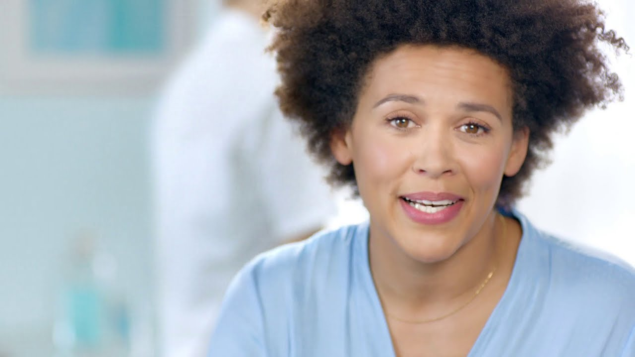 Actress Dominique starring in TV commercial Oral-B